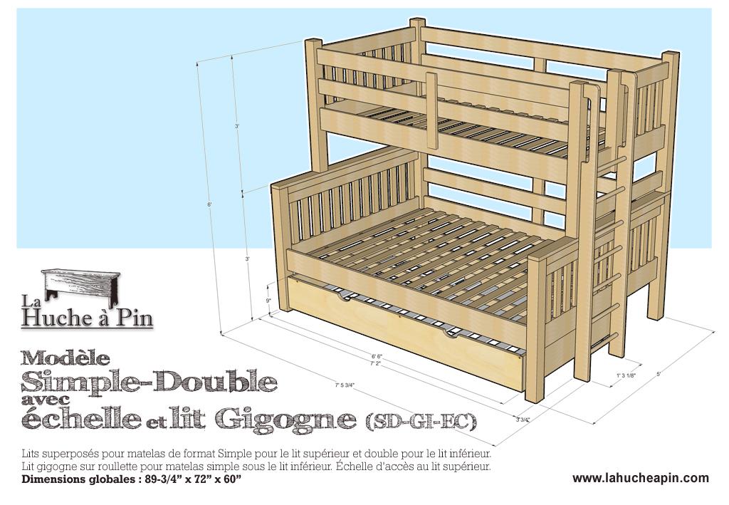 lit superpose simple double. Black Bedroom Furniture Sets. Home Design Ideas