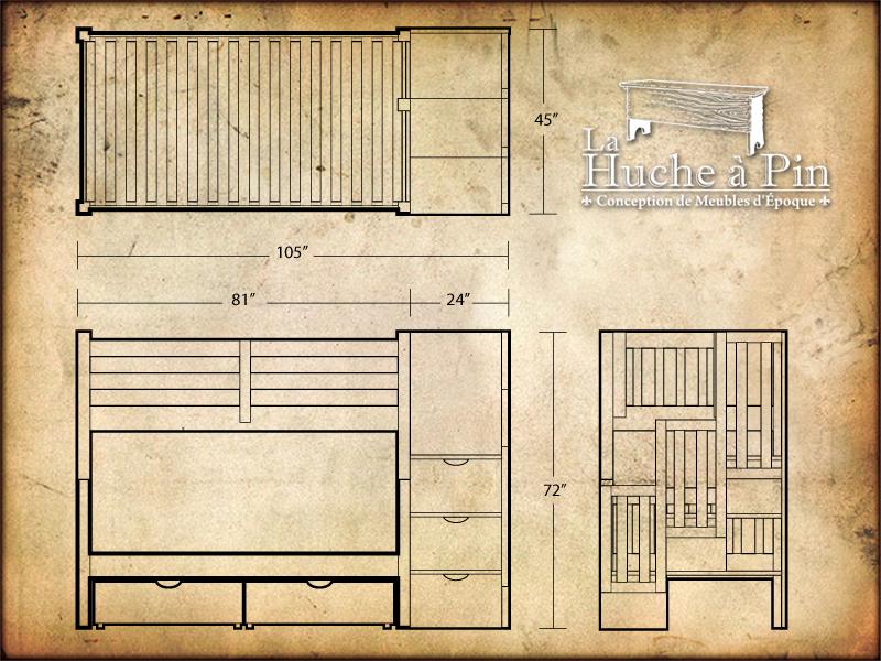 plan lit superpos latest lit superpose plan fabriquer lit. Black Bedroom Furniture Sets. Home Design Ideas